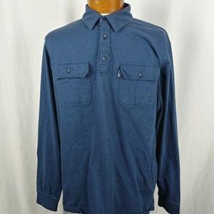 Levi's White Tab Long Sleeve Polo Shirt Blue XL
